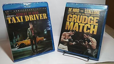 Taxi Driver1976(Blu-ray,40th Anniversary Edition)+Grudge Match 2014-New-Free S&H