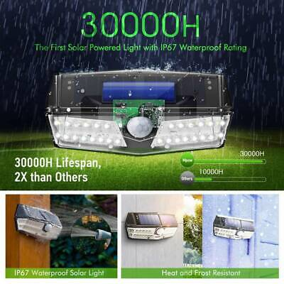 Mpow 30LED Solar Power Security Light Motion Sensor Super Bright Yard Wall Lamp