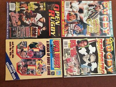 open rugby magazines from 1990 and 1995