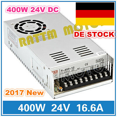 【EU NO VAT】400W 24V DC Switching Power Supply 16.6A Single Output For CNC Router