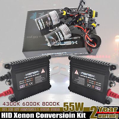 55W HID Xenon Conversion Light KIT H1 H3 H4 H7 H8 H9 H10 H11 HB3 HB4 9005 9006