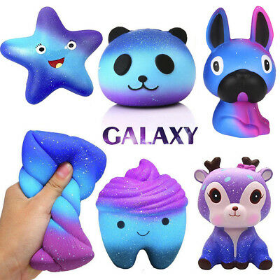 Galaxy Jumbo Slow Rising Squishies Squishy Squeeze Kid Toy Stress Reliever Aid b