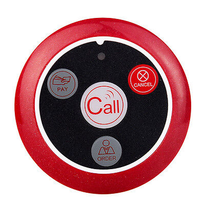 New!!Restaurant Wireless Guest Call Buttons Transmitter Table Pagers Bell 433MHz