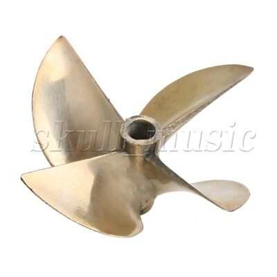 "4 Blades Alloy Propeller Dia 67mm Pitch 1.7 with Dia 1/4"" Shaft for RC Boat"