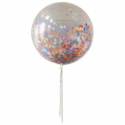 36inch Jumbo Round Latex Balloons with Multicolor Confetti Filled for Weddi P3G1