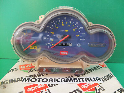 APRILIA Sonic 50 air scooter cruscotto CONTACHILOMETRI SPEEDOMETER dashboard