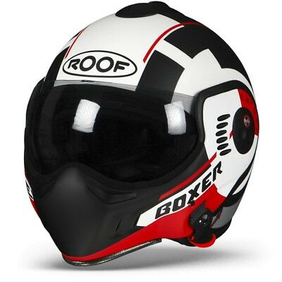 Roof Boxer V8 Target White Black Red Motorcycle Helmet New