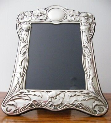 A HALLMARKED SHEFFIELD 1990 SOLID SILVER PHOTO PICTURE FRAME 22cm x 16.5cm
