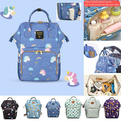 Unicorn Mummy Maternity Nappy Diaper Bag Large Capacity Baby Bag Travel Backpack