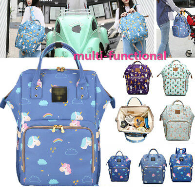 Unicorn Elephant Mummy Maternity Baby Nappy Diaper Changing Bag Travel Backpack