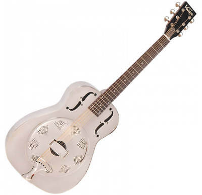 Vintage Single Cone Resonator Guitar - Chrome