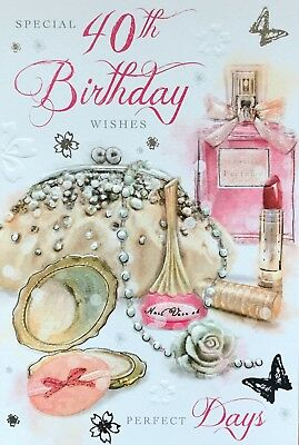 Happy 40th Birthday CardSpecial Wishes Female Luxury Card Made In UK