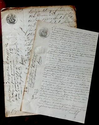 1849 and 1850 Two Original handwritten documents