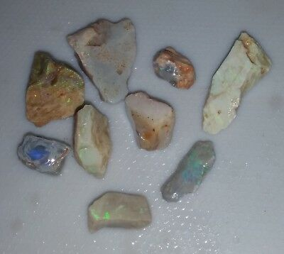101 Ct Australian Solid Rough Opal Parcel,Black Opal, Lightning Ridge,Bright,