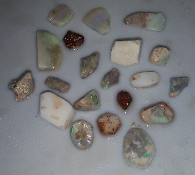100 Ct Australian Solid Rough Opal Parcel,Black Opal, Lightning Ridge,Bright,