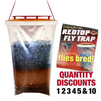 Fly Bag Trap CATCHER Kills 20,000 Flies Insects Pest Control Wasp Bug Killer UK