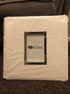 Creative Memories White Original 12x12 album coverset with Frame - BNIP No Pages