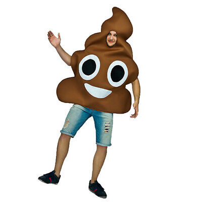 Funny Novelty Emoji Poop Poo Emoticon Adults Mens Womens Unisex Fancy Costume