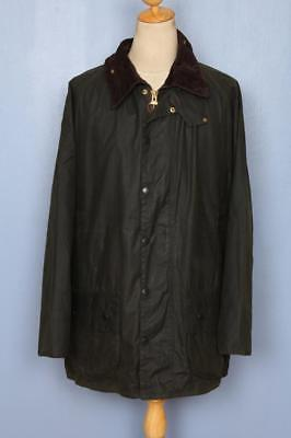 Mens BARBOUR Beaufort Waxed Jacket Green Size 46