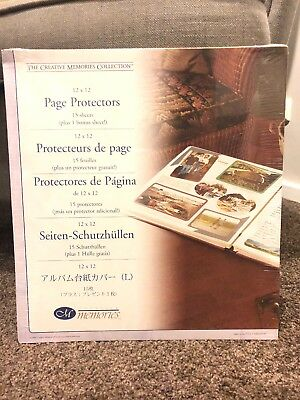 Creative Memories Old Style 12x12 Page Protectors (side load) BNIP