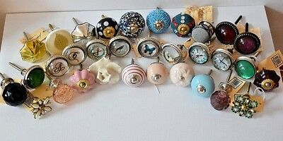 Ceramic & Glass Vintage Chic, Cupboard Door/drawer Knobs/handles Mix & Match