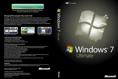 Windows 7 Ultimate 32-bit and 64-bit ISO Digital Download - No Product Key