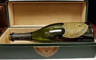 Vintage 1983 Cuvee Dom Perignon empty bottle , box and pamplet - free shipping