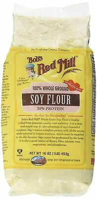 Bobs Red Mill Flour, Soy, 16 oz Free Shipping Fast Delivery