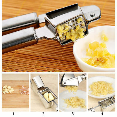 Heavy Duty Stainless Steel Garlic Press Ginger Crusher Cooking Masher Tool New
