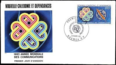 NEUKALEDONIEN ʘ 1983 MiNr. 706 FDC Weltkommunikationsjahr / World Communication