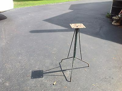 """Industrial Style Tripod Iron Table Base/ Plant Stand 29"""" High Great Diy Project"""