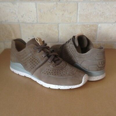 b86a80e399b UGG TYE SILVER Stardust Perf Leather Sneakers Tennis Shoes Size Us 9 ...
