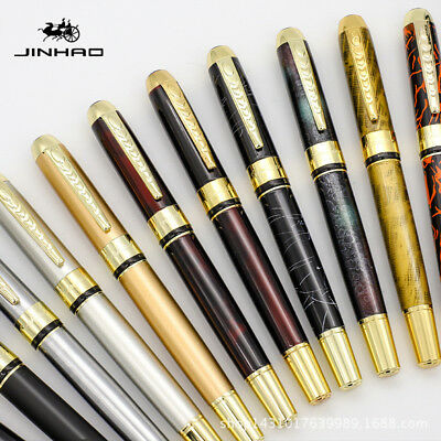 Jinhao 250 Smooth Colorful Metal Clip Fountain Pen Medium Fine Nib 0.5mm Writing