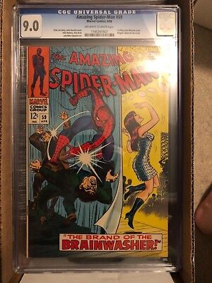 Amazing Spider-Man #59 Cgc 9.0 High Grade 1St Appearance Mj On Cover Silver Age!