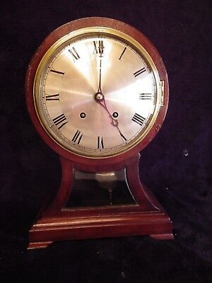 Large W & H Ting Tang Mahogany Balloon Mantle Clock Fully Serviced Circl 1880/90
