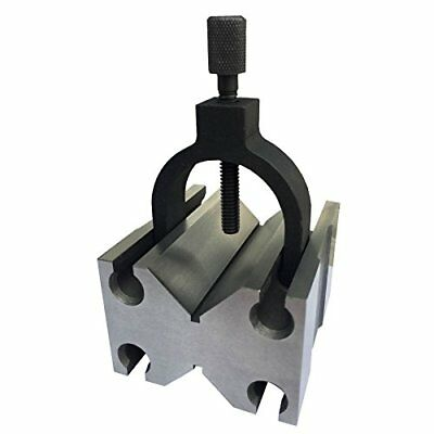 """HHIP 3402-0970   Toolmakers V-Blocks with Clamp In Slot 4-7/8"""" Length x 3-1/2..."""