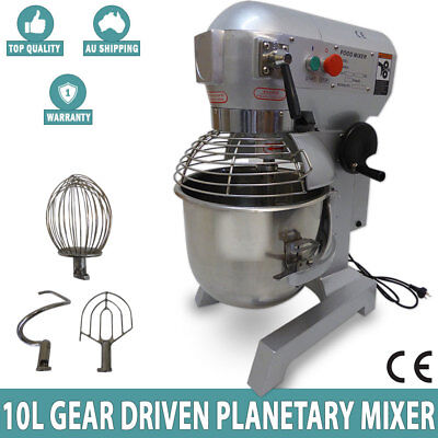 NEW 10 Litre 3-Speed Food & Dough Mixer /Planetary Mixer S/S Bowl