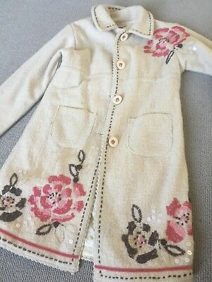 Beautiful Monsoon embroidered girls coat age 6-8 years