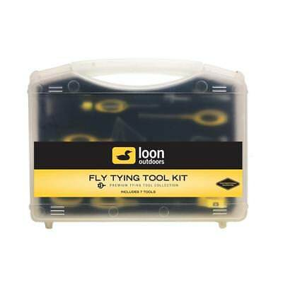 Loon Ergo Fly Tying Tool Kit - 7 premium tools with case