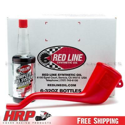 Red Line 11404 - 10W40 Synthetic Oil 6 Pack w/ Fuel System Cleaner and Funnel