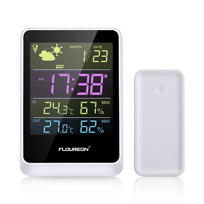 Color Wireless Weather Station Humidity In/Outdoor Temperature Alarm Forecaster
