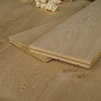 7 inch Massive Floorboards - Rustic Unfinished Solid Oak Wood 180mm wide - D18A
