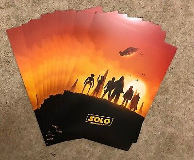 LOT OF 12 Solo: A Star Wars Story AMC IMAX Poster Prints (Week 1) 13x9 USA