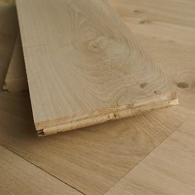 160mm wide Real Solid Oak Hardwood Floorboards - Rustic Character Wood Look D16A