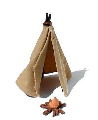 Un-Marked Miniature TeePee & Campfire Accessories