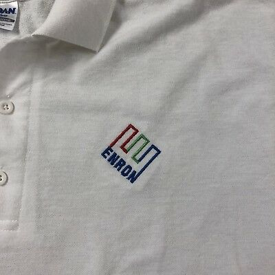 Enron Polo Shirt – Crooked E Logo – owned by a lower level executive size xl