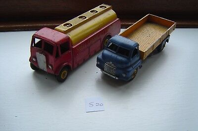 Dinky Toys Shell +  Big Bedford Lorry Job Lot Antique Vintage Diecast S20 1P
