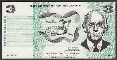 Australien Australia: 3 Dollars Government of Inflation - Billy McMahon