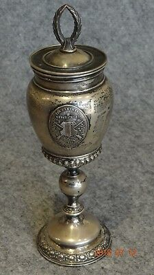 800 Silver Goblet / Cup Shooting Brotherhood 1886
