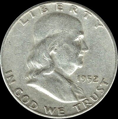 "A 1952 D Franklin Half Dollar 90% SILVER US Mint ""Average Circulation"""